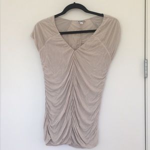 Express gold ruched blouse